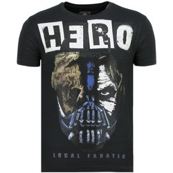 Kleidung Herren T-Shirts Local Fanatic Hero Mask Rhinestones N Blau