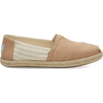 Schuhe Damen Leinen-Pantoletten mit gefloch Toms Canvas Ivy League on Rope Women's Alpargata Honey