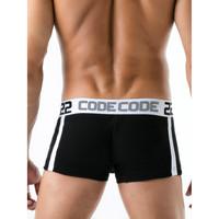 Unterwäsche Herren Boxer Code 22 Sportboxer Rippe Code22 Perlschwarz
