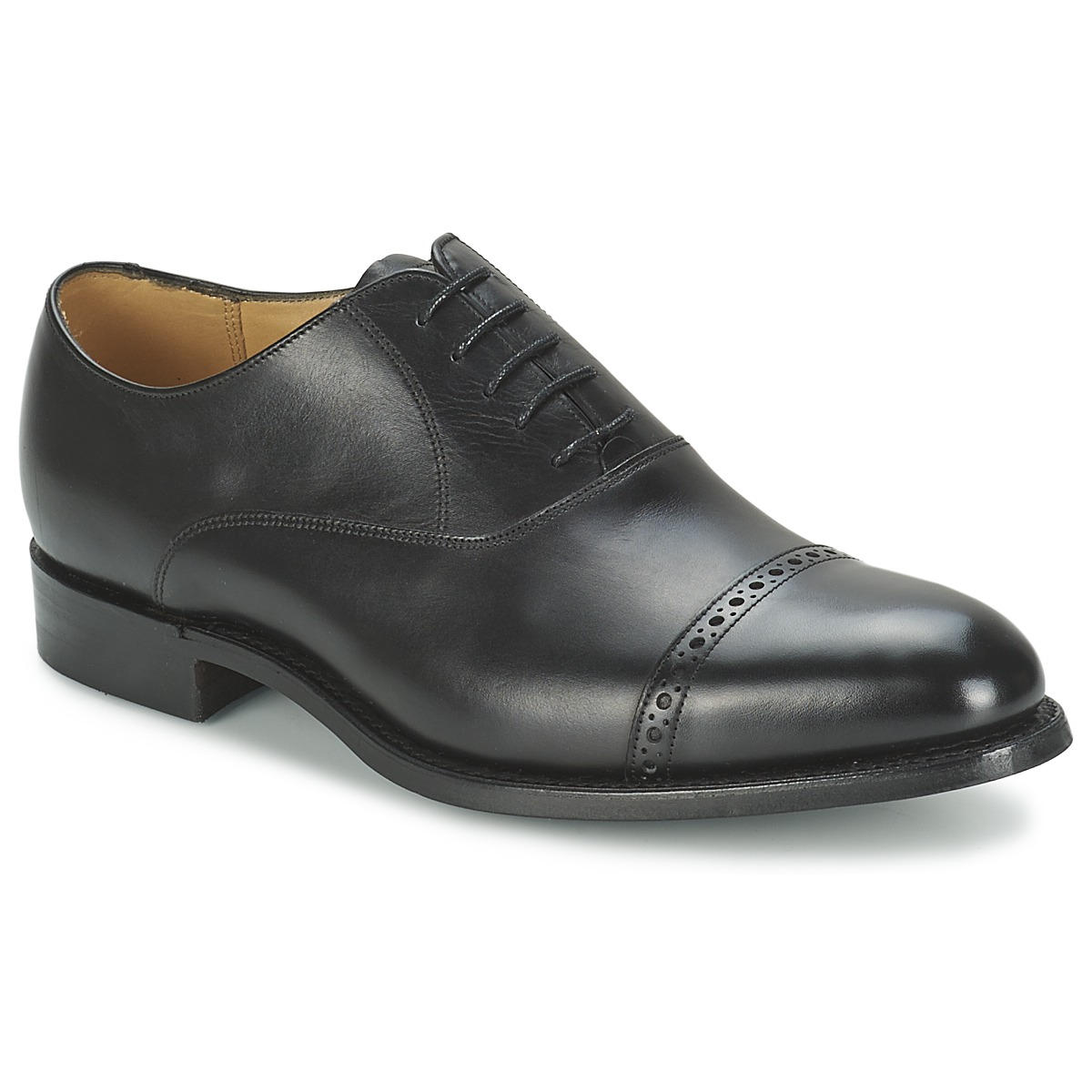 Barker BURFORD Schwarz - Kostenloser Versand bei Spartoode ! - Schuhe Richelieu Herren 247,20 €