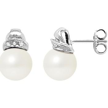 Uhren & Schmuck Damen Ohrringe Blue Pearls BPS K605 W - OB Weiss