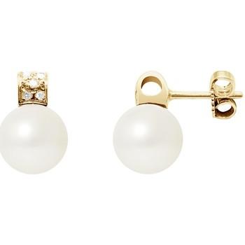 Uhren & Schmuck Damen Ohrringe Blue Pearls BPS K603 W Multicolor