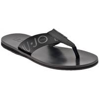 Schuhe Herren Zehensandalen Liu Jo 6036 Logo flip flop zehentrenner