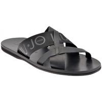 Schuhe Herren Pantoffel Liu Jo 6190 Logo pantoletten hausschuhe