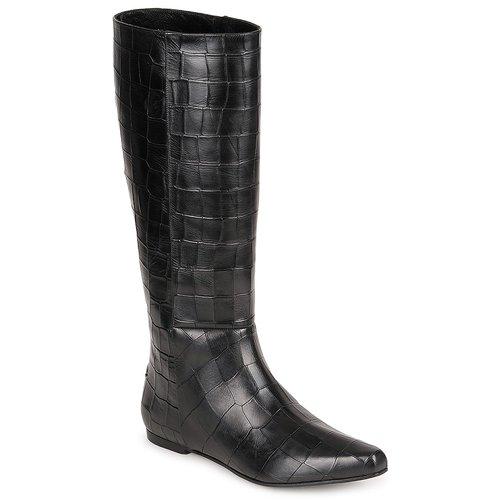 Schuhe Damen Klassische Stiefel Roberto Cavalli SPS749 Schwarz
