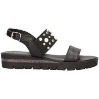 Schuhe Damen Sandalen / Sandaletten Jeiday 2453867 Sandelholz Frau schwarz schwarz