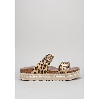 Schuhe Damen Leinen-Pantoletten mit gefloch Senses & Shoes TIKA Multicolor