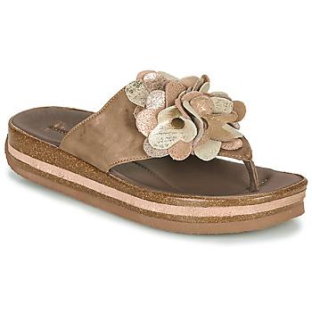 Schuhe Damen Zehensandalen Think ZEGA Beige