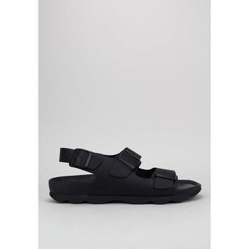 Schuhe Leinen-Pantoletten mit gefloch Senses & Shoes CONGO Schwarz