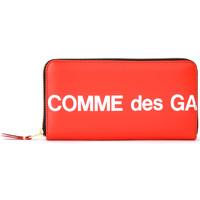 Taschen Damen Portemonnaie Comme Des Garcons Comme Des Garçons Portemonnaie Wallet Huge Logo Rot