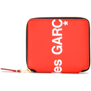 Taschen Damen Portemonnaie Comme Des Garcons Comme Des Garçons Portemonnaie Wallet Huge Logo in Leder Rot Rot