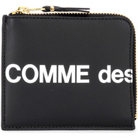 Taschen Damen Portemonnaie Comme Des Garcons Comme Des Garçons Portemonnaie Wallet Huge Logo in Leder Schwarz