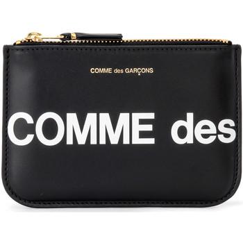 Taschen Damen Geldbeutel Comme Des Garcons Comme Des Garçons Etui Wallet Huge Logo in Leder Schwarz Schwarz
