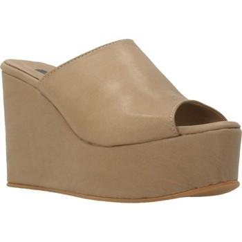 Schuhe Damen Pantoffel Clover 89822 Brown