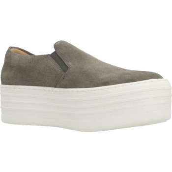 Schuhe Damen Slip on Clover 89844 Grau