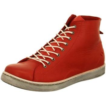 Schuhe Damen Boots Andrea Conti Stiefeletten Rote Schnürboot 0341500-583 rot