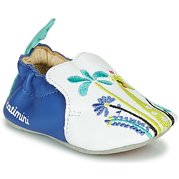 Schuhe Mädchen Hausschuhe Catimini COLIMA Weiss / Blau