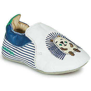 Schuhe Jungen Hausschuhe Catimini COFFI Weiss / Blau / Grün