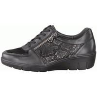 Schuhe Damen Sneaker Low Semler Schnuerschuhe J7085 J7085871/001 schwarz