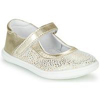 Schuhe Mädchen Ballerinas GBB PLACIDA Weiss / Gold
