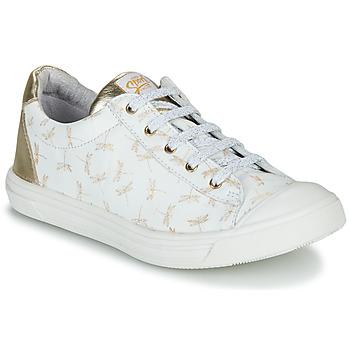 Schuhe Mädchen Sneaker Low GBB MATIA Weiss / Gold