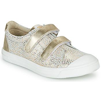 Schuhe Mädchen Sneaker Low GBB NOELLA Weiss / Gold