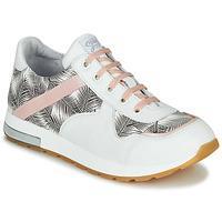Schuhe Mädchen Sneaker Low GBB LELIA Weiss / Schwarz / Rose