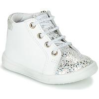 Schuhe Mädchen Sneaker High GBB FAMIA Weiss / Silbern