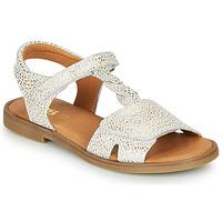 Schuhe Mädchen Sandalen / Sandaletten GBB FARENA Weiss / Gold