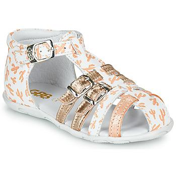 Schuhe Mädchen Sandalen / Sandaletten GBB RIVIERA Weiss / Rose
