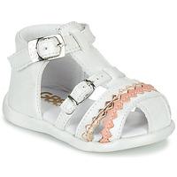 Schuhe Mädchen Sandalen / Sandaletten GBB ALIDA Weiss