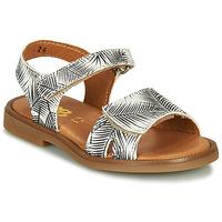 Schuhe Mädchen Sandalen / Sandaletten GBB CAVOLA Weiss / Schwarz