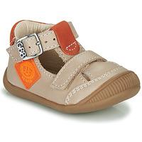 Schuhe Jungen Sandalen / Sandaletten GBB BOLINA Beige / Orange