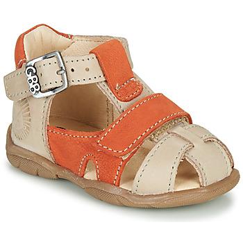 Schuhe Jungen Sandalen / Sandaletten GBB SEROLO Beige / Orange