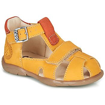 Schuhe Jungen Sandalen / Sandaletten GBB SEROLO Gelb / Orange