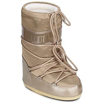Schuhe Damen Schneestiefel Moon Boot MOON BOOT GLANCE Platin