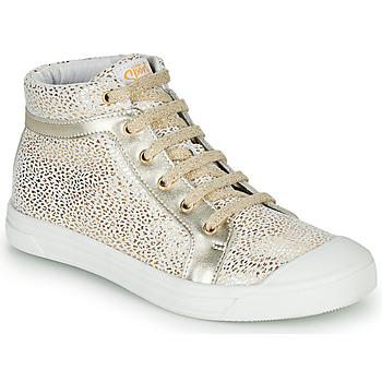 Schuhe Mädchen Sneaker High GBB NAVETTE Weiss / Gold