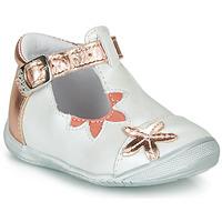 Schuhe Mädchen Ballerinas GBB ANAXI Weiss / Rose / Gold