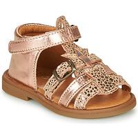Schuhe Mädchen Sandalen / Sandaletten GBB CARETTE Rose / Gold