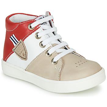 Schuhe Jungen Sneaker High GBB AMOS Beige / Weiss / Rot