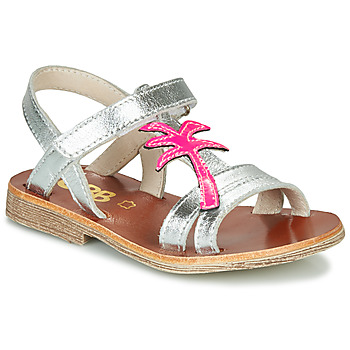 Schuhe Mädchen Sandalen / Sandaletten GBB SAPELA Silbern / Rose