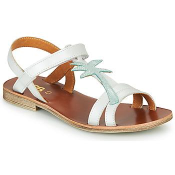 Schuhe Mädchen Sandalen / Sandaletten GBB SAPELA Weiss