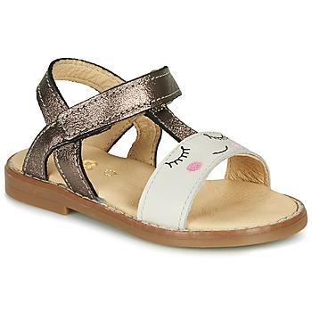 Schuhe Mädchen Sandalen / Sandaletten GBB NAZETTE Beige / Bronze