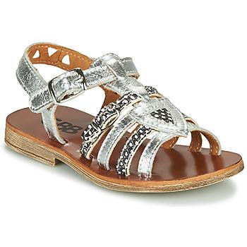 Schuhe Mädchen Sandalen / Sandaletten GBB FANNI Silbern