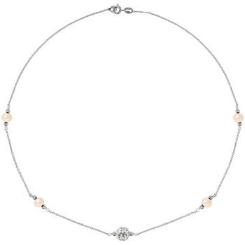 Uhren & Schmuck Damen Collier Blue Pearls BPS K049 W Multicolor