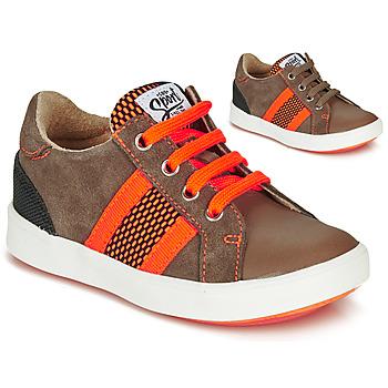 Schuhe Jungen Sneaker Low GBB ANTENO Braun / Orange