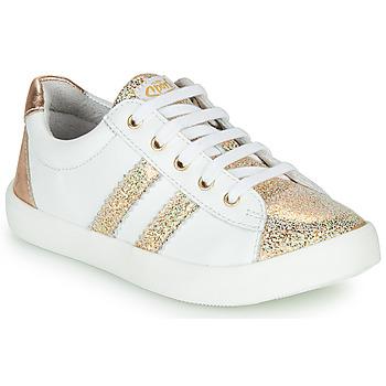 Schuhe Mädchen Sneaker Low GBB MAPLUE Weiss / Gold