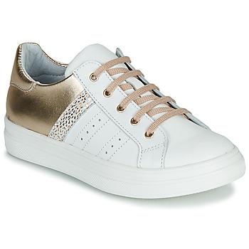 Schuhe Mädchen Sneaker Low GBB DANINA Weiss / Gold