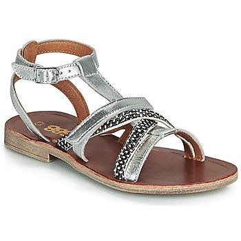 Schuhe Mädchen Sandalen / Sandaletten GBB JULIA Silbern