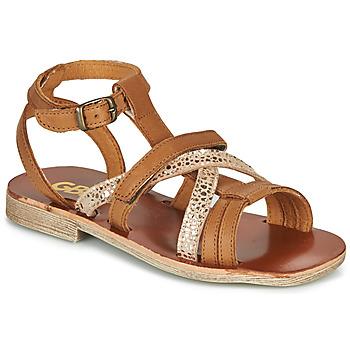 Schuhe Mädchen Sandalen / Sandaletten GBB JULIA Braun